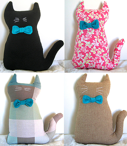 Teal Cat Plush Dolls
