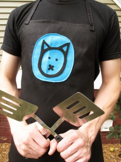 Teal Cat Aprons